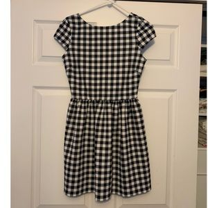 Aqua checker dress